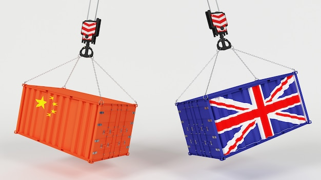 3d render of uk trade import tarrifs Free Photo