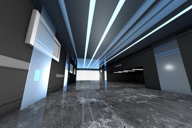 工業用インテリアの3 dレンダリングされた図 Premium写真