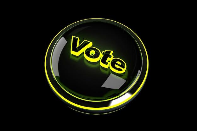 3d визуализация иллюстрация кнопки голосования. Premium Фотографии