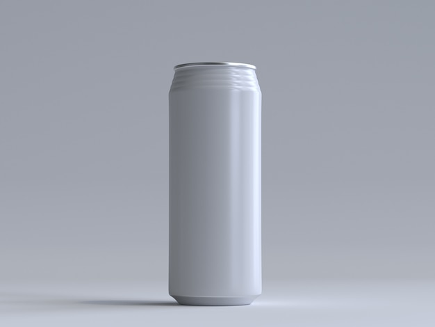 3d rendered soda can without a label Premium Photo