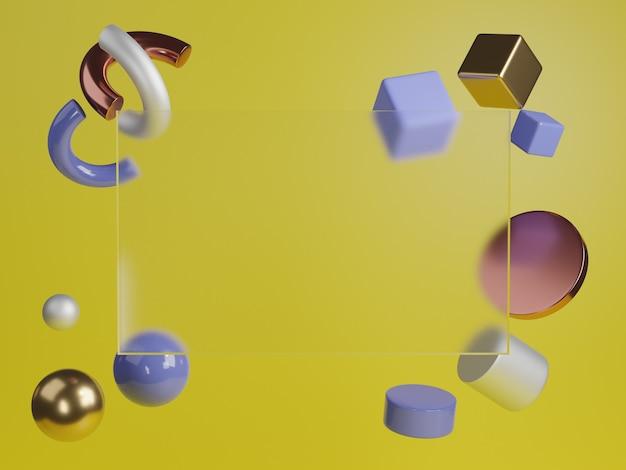 3d 렌더링 된 스튜디오는 제품 프리젠 테이션을위한 배경을 모의합니다. 프리미엄 사진