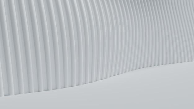 3 dレンダリング抽象的な曲線白い明確な背景 Premium写真