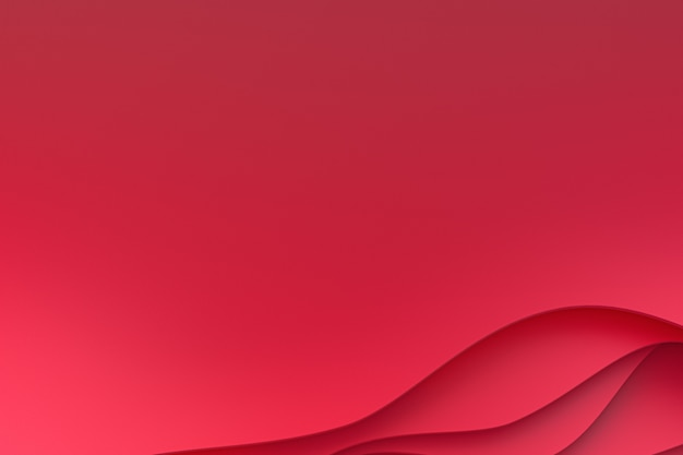 3d rendering, abstract red paper cut art background design for website template or presentation template,red background,background for valentine day Premium Photo