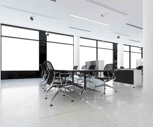 事務所ビルの3 dレンダリングビジネス会議室 Premium写真