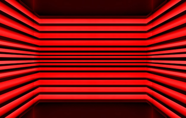 3d rendering, dark red tone panel pattern wall background, Premium Photo