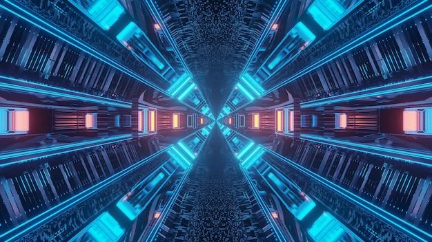 3dレンダリングの未来的なsfテクノライトの背景 無料写真