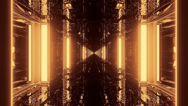 3d rendering futuristic sci-fi techno lights- a cool background Free Photo