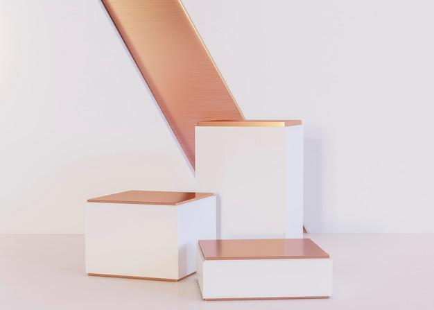 3dレンダリングの幾何学的形状の背景 無料写真