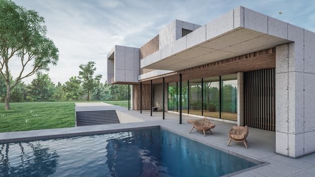 3d rendering of house visualisation Premium Photo