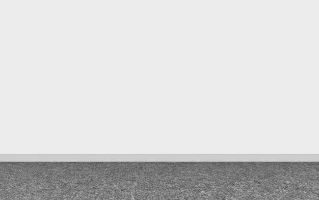 3d rendering. modern dark carpet flooring with empty white wall background. Premium Photo