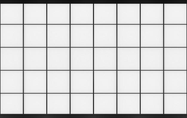 3d rendering. modern oriental square shape pattern paper art wall door. Premium Photo