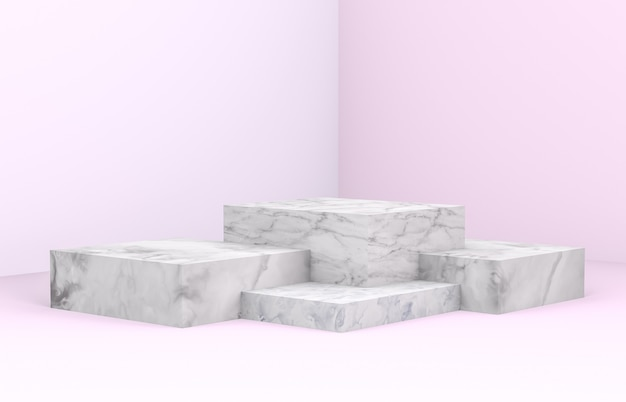 3d rendering. natural beauty backdrop for cosmetic product display. Premium Photo