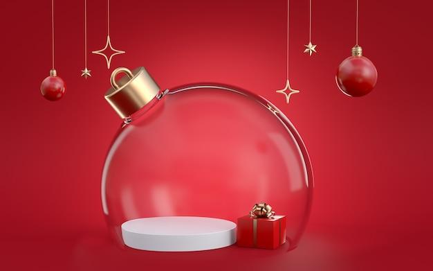 クリスマスの3dレンダリング Premium写真