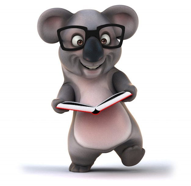 3d-рендеринг смешной коалы Premium Фотографии