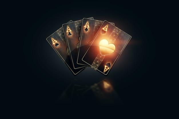 3d rendering online gambling Premium Photo
