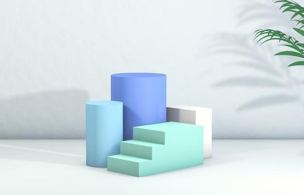3d rendering. podium for cosmetic product display. Premium Photo