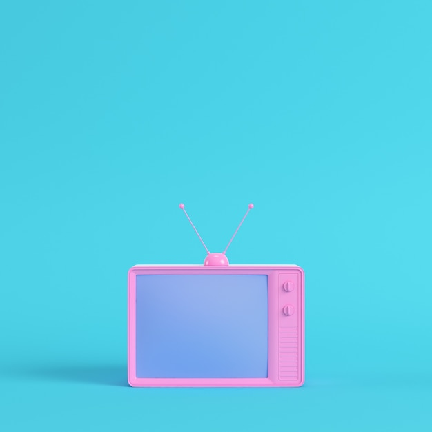 レトロなスタイルのテレビの3dレンダリング Premium写真