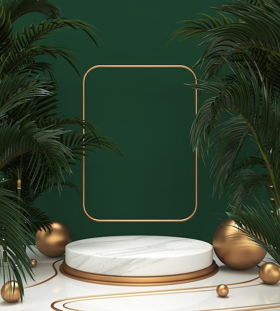 3d rendering scene podium display for cosmetic product presentation Premium Photo