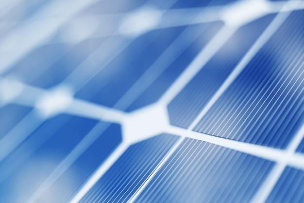 3d rendering solar power generation technology. alternative energy. solar battery panel modules with blue sky Premium Photo