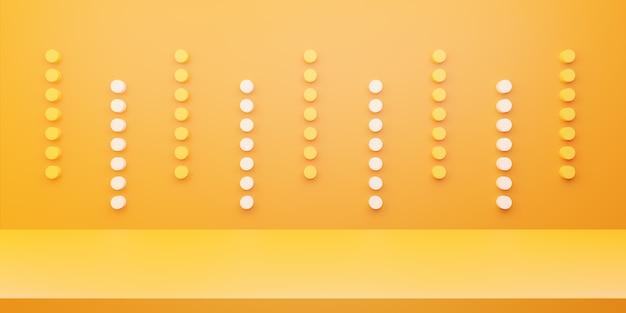 3d rendering of yellow orange abstract minimal concept Premium Photo