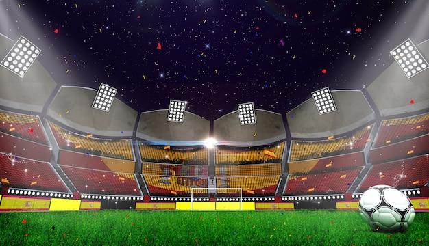 3d рендринг стадиона фона Premium Фотографии