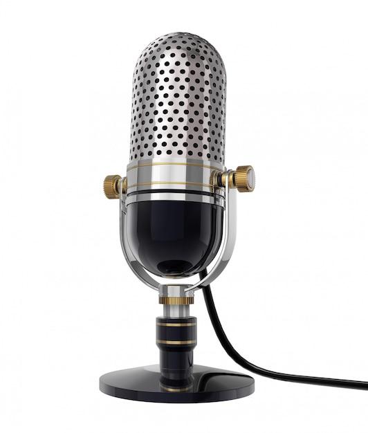 ретро микрофон для фотосессии для жанровой эротической