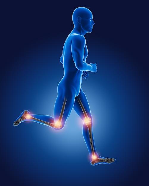3d running medical man Free Photo