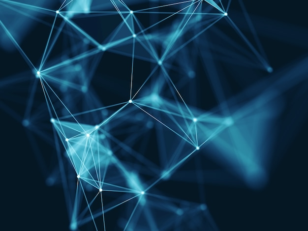 3d science modern network communications background Free Photo