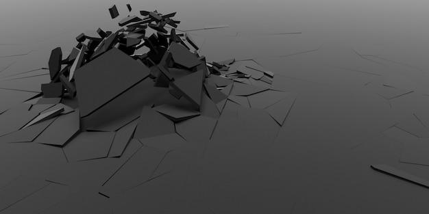 Priorità bassa astratta della carta da parati di 3d shatter Foto Gratuite