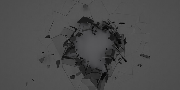 3d shatter抽象的な壁紙の背景 無料写真