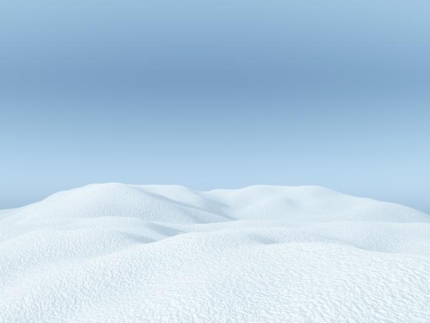 3d snowy landscape Free Photo