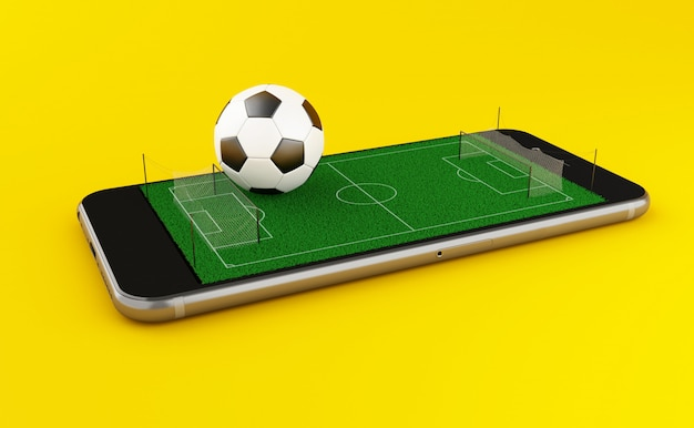 3d soccer bet online Premium Photo