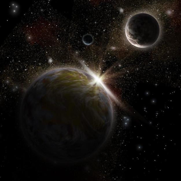 Scena spaziale 3d Foto Gratuite