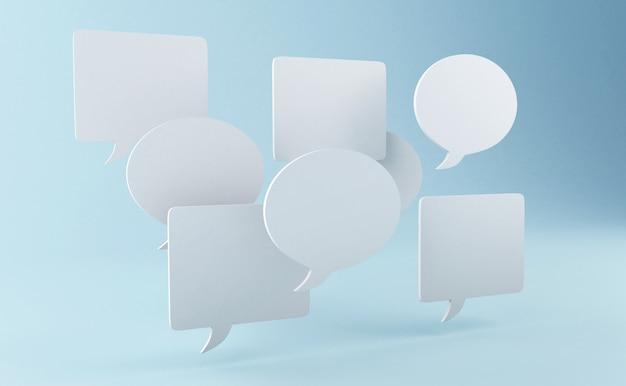 3d speech bubble Premium Photo