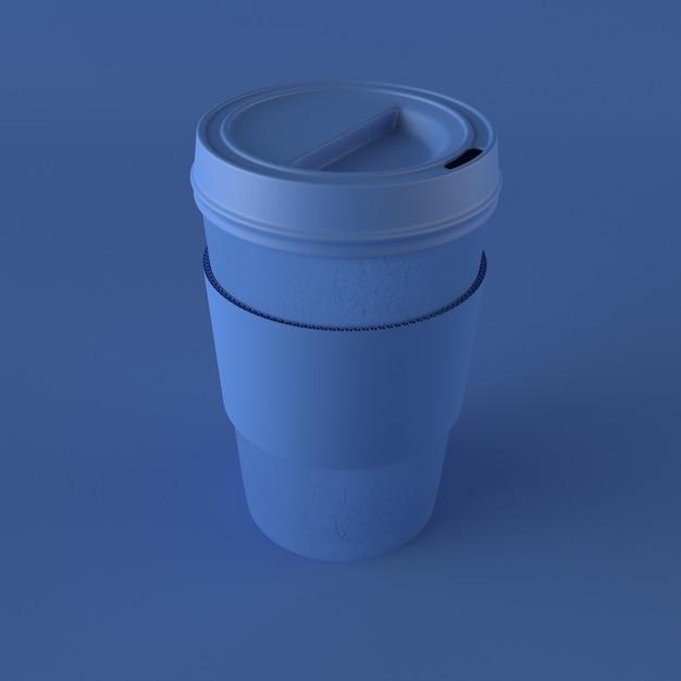 3d чашка кофе на вынос Premium Фотографии