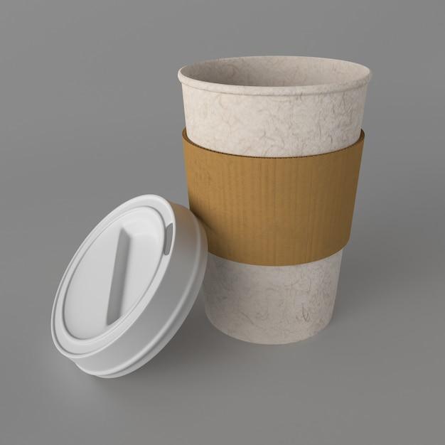 3dテイクアウトコーヒーカップ 無料写真