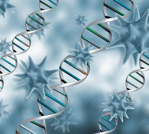 3d virus background Free Photo