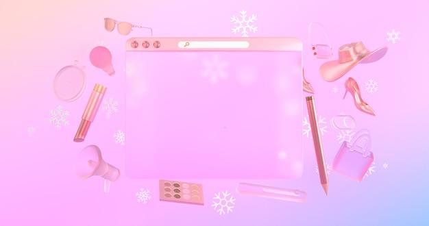 У значков на 3d-сайтах и у 3d-объектов на задней панели есть значки со снегом. Premium Фотографии