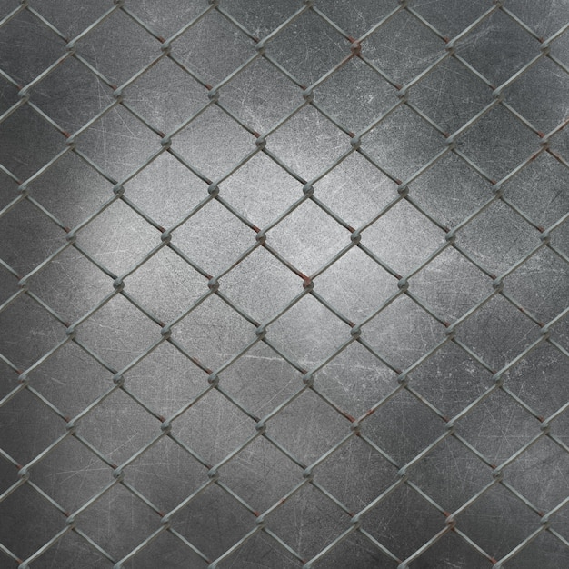 3d wire mesh on grunge metal background Free Photo
