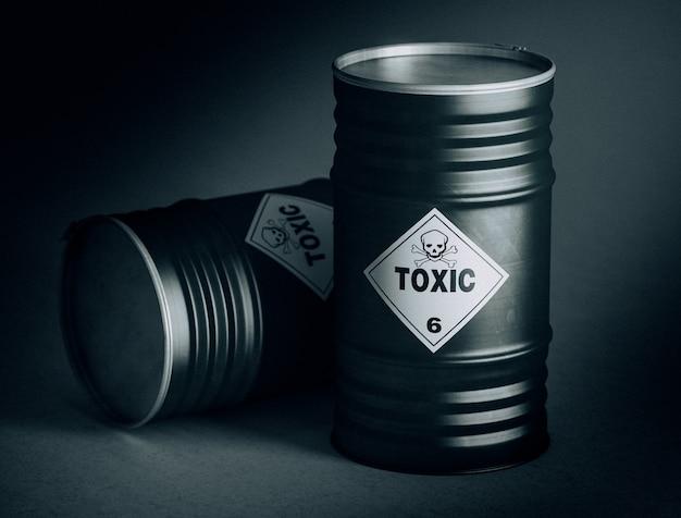 Токсичная бочка 3d Premium Фотографии