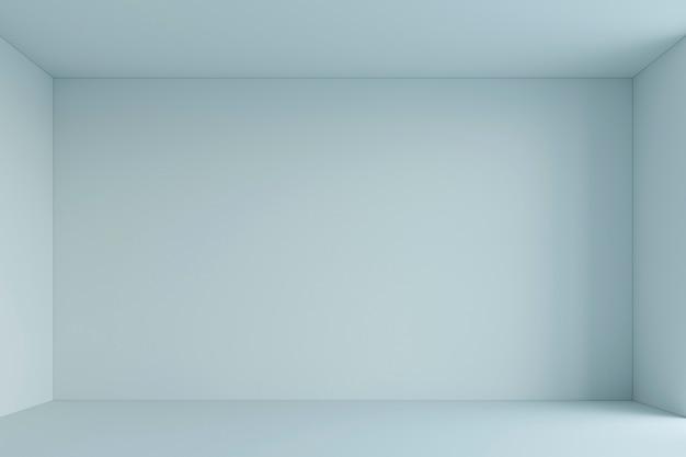 空の白いシンプルな部屋。 3dレンダリング Premium写真