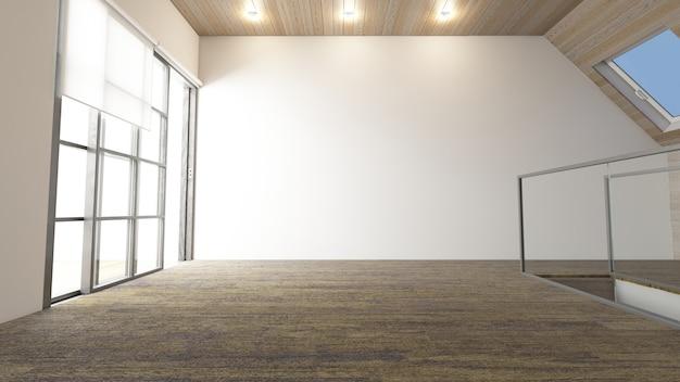 3dコンテンポラリーな空の部屋 無料写真