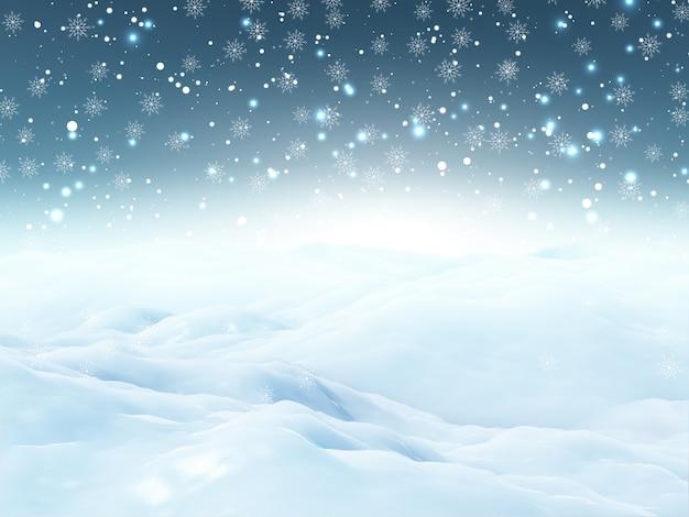 3dクリスマス雪景色 無料写真