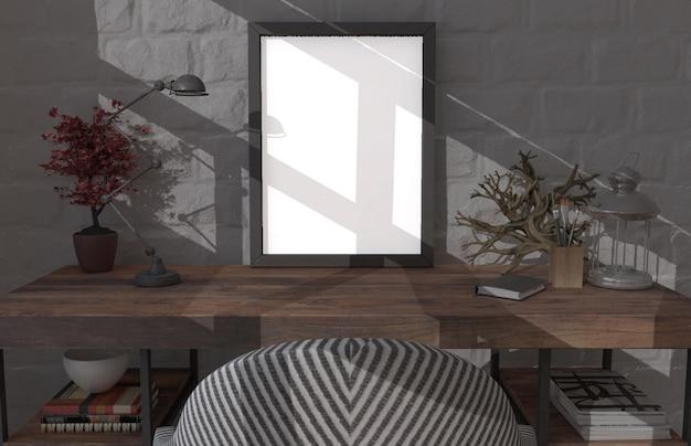 3dの現代的なリビングルームのインテリアとモダンな家具 無料写真