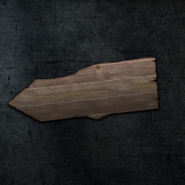 3d гранж стиль деревянный знак на темном фоне текстуры бетона Бесплатные Фотографии