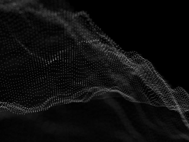 3d сеть потока частиц фона Бесплатные Фотографии