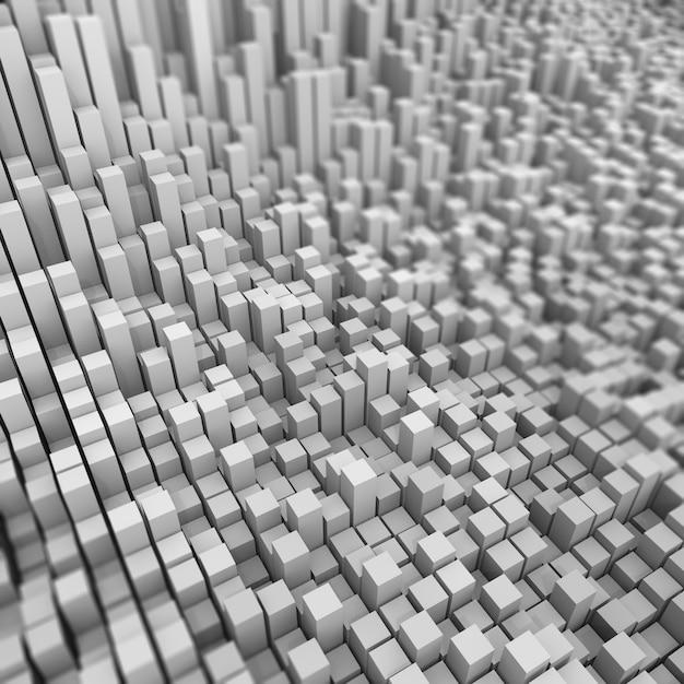 3d абстрактный задний из экструдированных кубов с малой глубиной резкости Бесплатные Фотографии