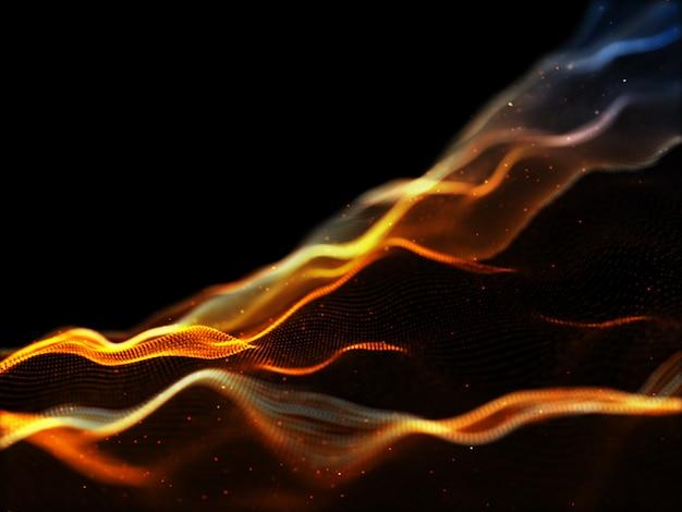 3d современный поток частиц фон с кибер точками Бесплатные Фотографии