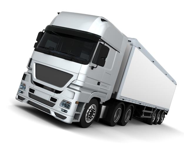 貨物配達車両のレンダリング3d 無料写真