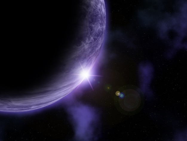 3d抽象的な宇宙シーン 無料写真